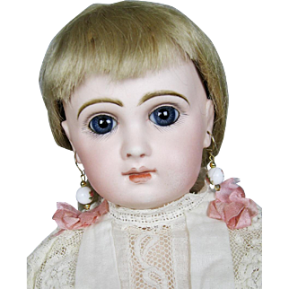 """19"""" Tete Jumeau French Bebe Closed Mouth Antique Doll"""