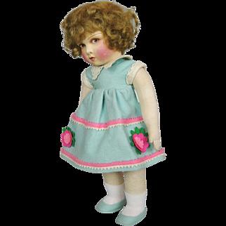 Wonderful Felt and Cloth Raynal French Doll