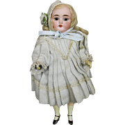 "All Original Antique 9"" Bisque Head German Doll"