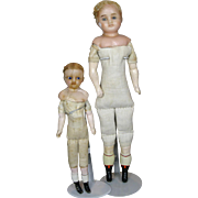 Lot of Two Antique German Wax Dolls ~ TLC, Great Bodies