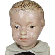 """14"""" Schoenhut Wood Doll with Carved Hair Incised Mark Model 205"""