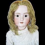 Large Antique German Walkure Bisque Head Doll ~ So Sweet!