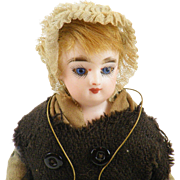 "Antique French Fashion FG Francois Gaultier Bisque Head Doll - Fisherwoman - 11 1/2"" All Original French Provincial Doll"