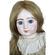 "Gorgeous 20"" Antique French Tete Jumeau Closed Mouth Bebe Doll"