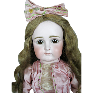 "21"" Early Kestner Closed Mouth Pouty Antique German Doll"