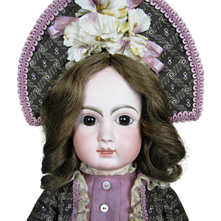 Antique French Steiner Closed Mouth Bebe Doll with Original Stamped Body