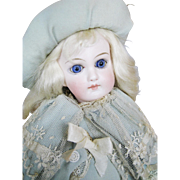 Gorgeous Antique German Belton Closed Mouth Doll with French Body