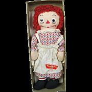 "Vintage 15"" 1951 Johnny & Myrtle Gruelle Georgene Novelties Raggedy Ann In Box w Tag"