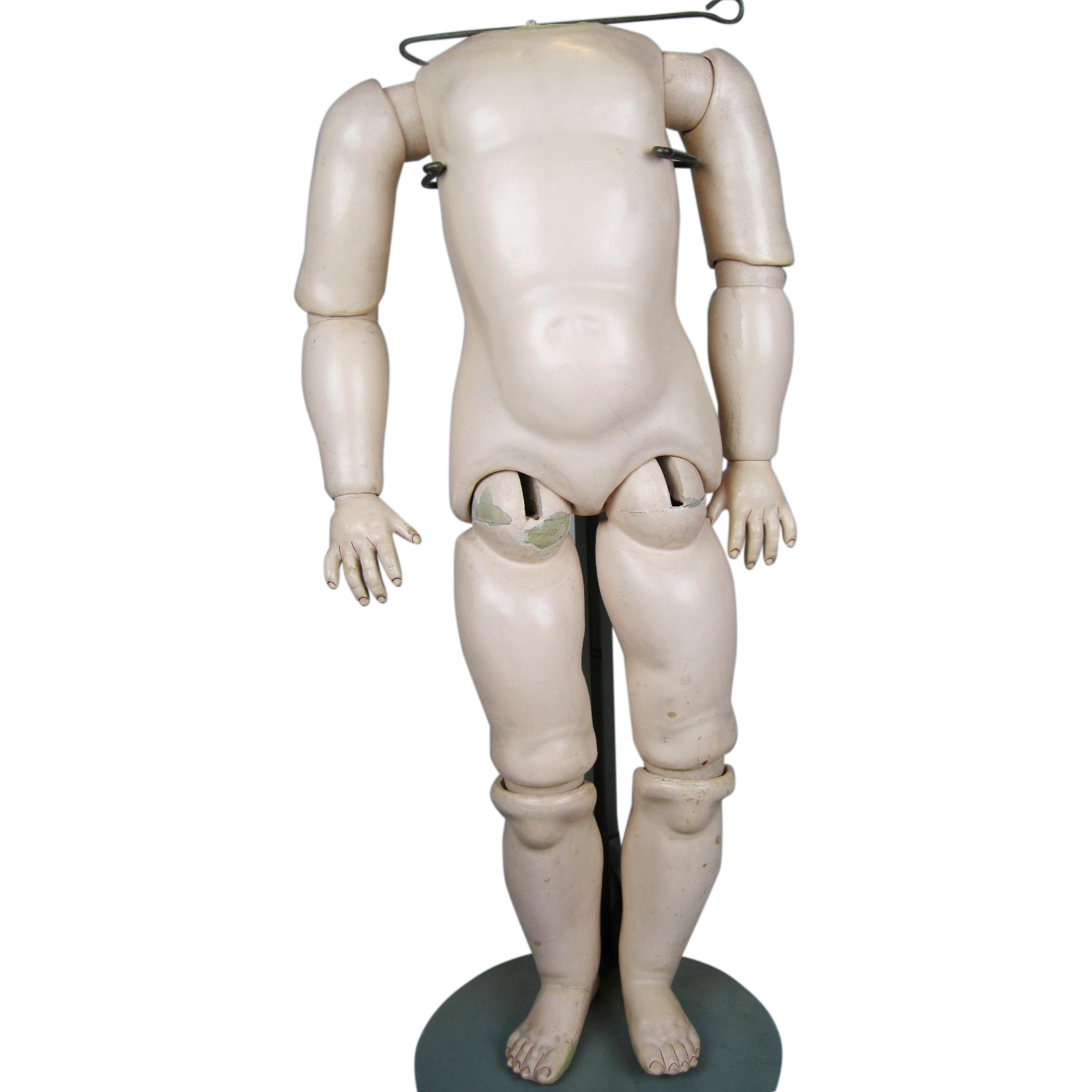 """Antique 22"""" German Composition Doll Body for Socket Head"""