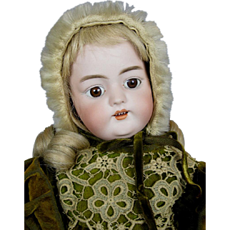 "Antique 18"" Simon Halbig 1079 German Bisque Head Doll ~ Great Clothing!"