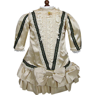 Bebe Style Drop Waisted Dress for your Antique Doll ~ Artisan Made