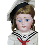 "Antique German 18"" Kestner Bisque Head Mold 168 Doll ~ Sweet Sailor Girl!"