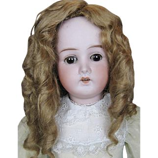 """Antique 22"""" German Bisque Head Doll With Composition Ball Jointed Body"""