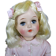 "21"" Vintage Ideal High Color Toni P-93 Hard Plastic Doll"