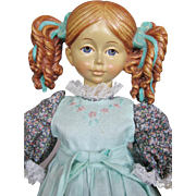 "13"" All Wood Jointed 1988 Limited Dolfi Nadia Doll"