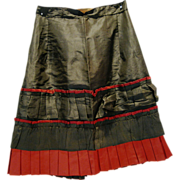 Nice Antique Girl's Silk Pleated Skirt