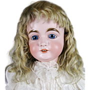 German Bisque Kestner Doll ~ Original Mohair Wig, Lg Girl!