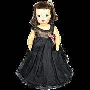 Vintage 1950's Terri Lee Doll in Black Formal