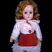 "R & B Arranbee 14"" Nancy Lee Composition Skater Doll"