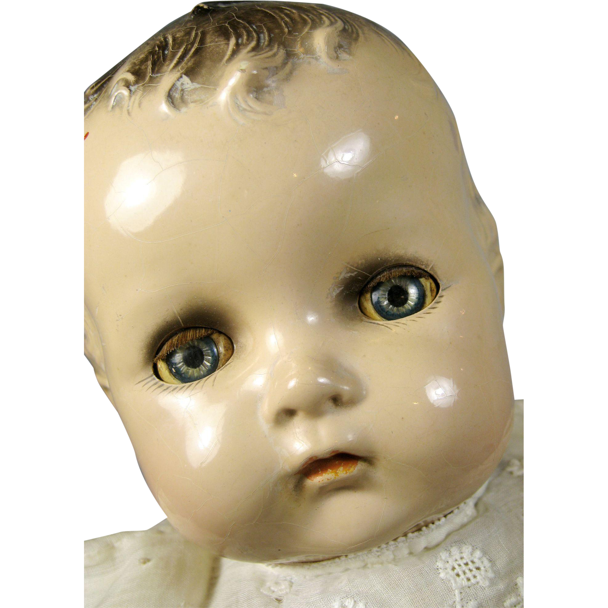 Large Vintage Composition HP Cloth Baby Doll Sayco ~ Great face! : Victoria's Doll House | Ruby Lane