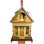 "Antique Bliss ""Keyhole"" Lithograph Wooden Doll House"