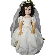 1950's Madame Alexander Wendy Hard Plastic Bride Doll, A/O
