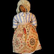 Antique Primitive Nut Head Doll w Great Homespun Apron