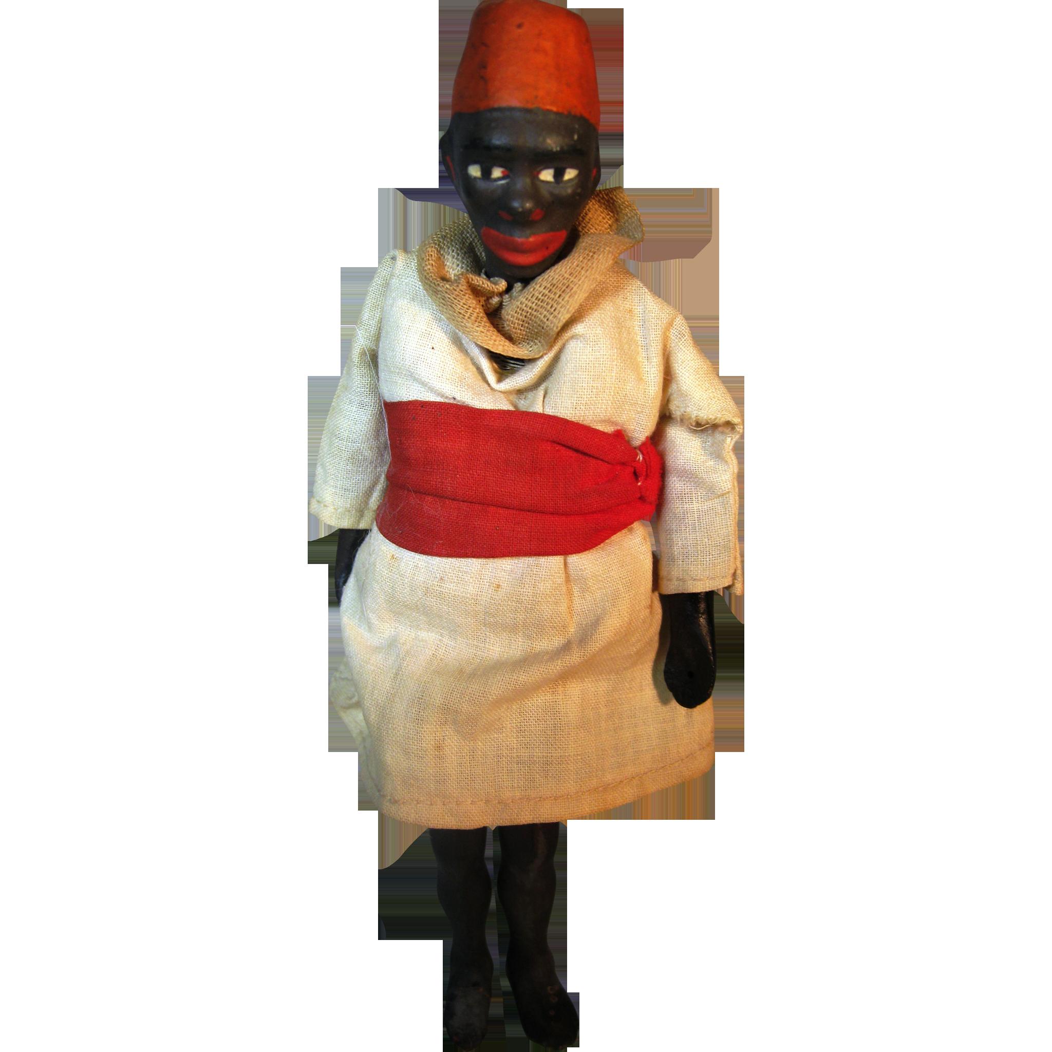 Antique Ethnic Black Americana African Puppet Minstrel