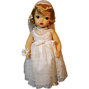 Vintage Terri Lee Hard Plastic Bride Doll