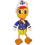Vintage Felt Donald Duck Stuffed Doll Toy Lenci Type