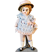 Adorable All Bisque German Antique Doll
