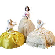 Group of 3 China Pincushion Half Dolls