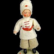 German All Bisque Russian Boy Doll A/O