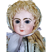 Antique French Jumeau Bisque Head Bebe ~ Blue Eyed Beauty!