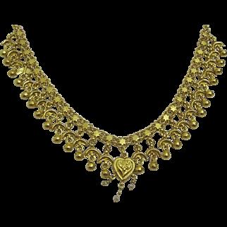 Vintage 22 karat Gold Kurdish Necklace