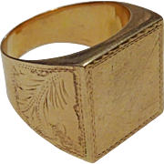 Vintage 14 karat Gold North African style Mans Ring