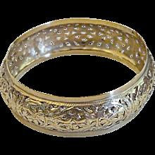 Vintage Moroccan hand made 14 karat Gold Bracelet