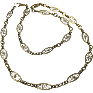 "Vintage 14 karat Gold French ""citour necklace"""