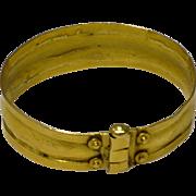 Vintage Hand made Uzbeki 21 karat Gold Bracelet