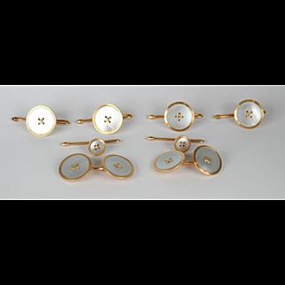 KREMENTZ Art Deco Mother of Pearl 8-Piece Cufflink Set