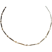 18kt Updated Filigree Watch Chain with Diamonds 1.30 ctw.