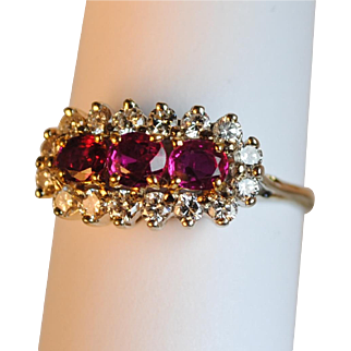 18kt .50ctw.Ruby and .48ctw Diamond Ring Estate