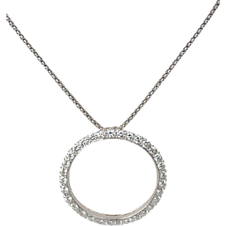 Classic Diamond Circle Pendant 2.45 carats