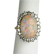 Fabulous Opal and Diamond Ring in 18kt