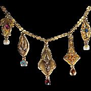 Fabulous Five Lavalier Pendant Necklace