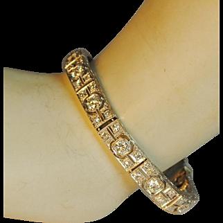 Bailey, Banks and Biddle Art Deco Platinum & Diamond Line Bracelet 4.0+ctw.
