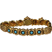 Victorian 18kt Gold Persian Turquoise Bracelet