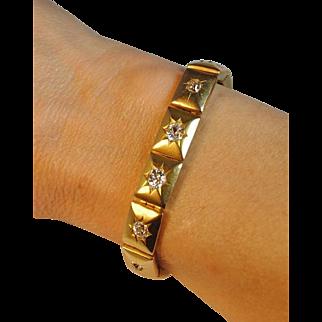 Victorian 2.20ctw. Diamond Link Bracelet 18kt