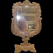 Victorian Dresser Mirror Cast Iron