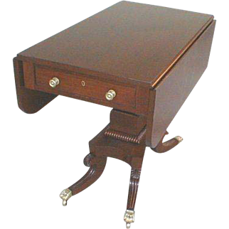 Federal Period Drop Side Table Mahogany Regency Style